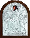 Икона «Благословение детей» (9*11) в серебре