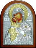 Икона Богородицы «Федоровской» (12*16) в серебре с золочением