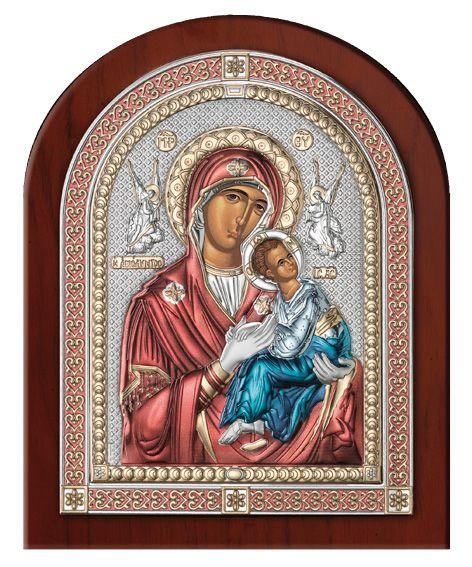 Серебряная икона Божья Матерь Амолинта (Благая) (Valenti & Co, Италия, эксклюзивная рамка)