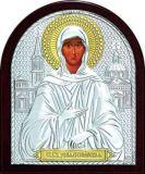 Икона Святая Блаженная Ксения Петербургская (9*11) в серебре с золочением