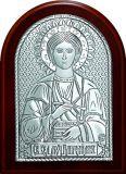 Купить икону Святого Великомученика Пантелеимона Целителя (9*11) в серебре