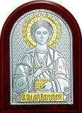 Купить икону Святого Великомученика Пантелеимона Целителя  (12*16) в серебре с золочением купить