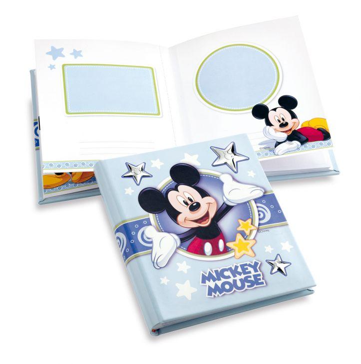 Детский кожаный фотоальбом с серебряными вставками Disney, 20*25см. (Valenti & Co, Италия)