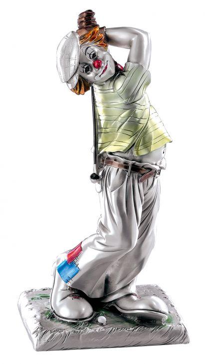 Серебряная коллекционная фигурка клоуна-гольфиста (Valenti & Co, Италия)