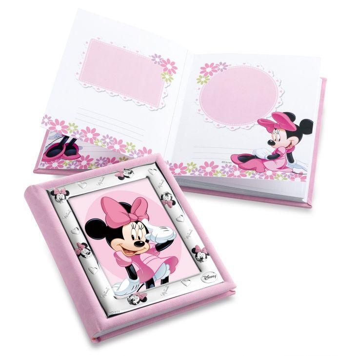 Детский фотоальбом (для девочки) с серебряной рамкой Disney, 20*25см. (Valenti & Co, Италия)