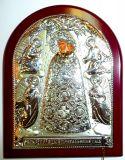 Серебряная икона Богородицы «Прибавление ума» (12*16см., «Галерея благолепия», Россия) в дорожном футляре