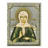Серебряная икона Святая Матрона (листовое серебро, Valenti & Co, Италия) купить серебряную итальянскую икону
