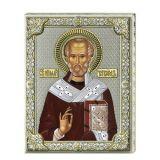 Серебряная икона Святой Николай (листовое серебро, Valenti & Co, Италия) купить он лайн