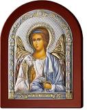 Серебряная икона Ангел Хранитель (Valenti&Co, Италия,цветной лак, повышенное качество!)