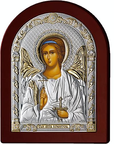 Серебряная икона Ангел Хранитель (Valenti&Co, Италия, прозрачный  лак, повышенное качество!)