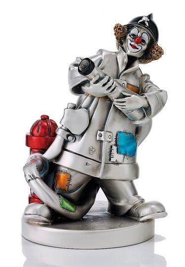 Серебряная коллекционная фигурка Клоуна пожарного (Valenti & Co, Италия)