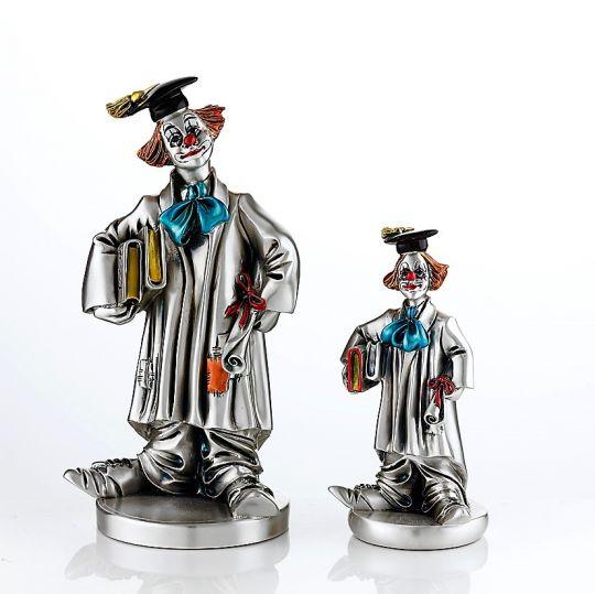 Серебряная коллекционная фигурка  Клоуна выпускника (Valenti & Co, Италия)
