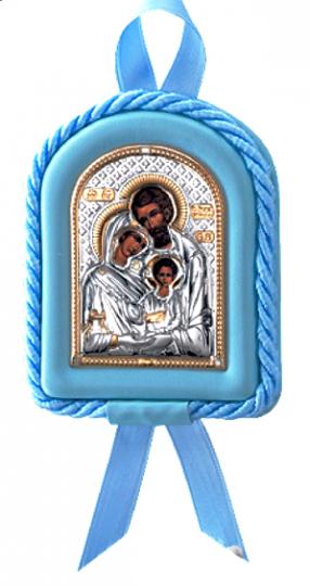 Икона Святое Семейство в колыбельку новорожденному ребенку  (Valenti&Co, Италия, повышенное качество!) купить в подарочной упаковке!