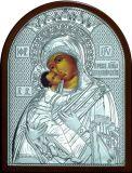 Икона Богородица «Владимирская» (19*25) в серебре