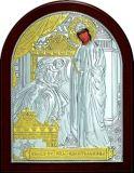 Целительная икона Богородицы «Целительницы» (9*11) в серебре с позолотой