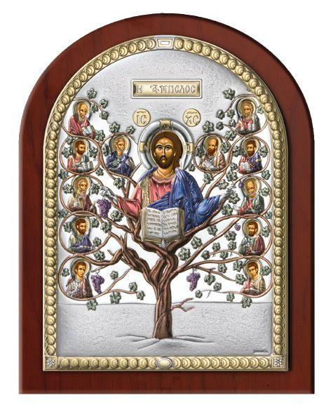 Серебряная икона Древо Жизни (Италия)