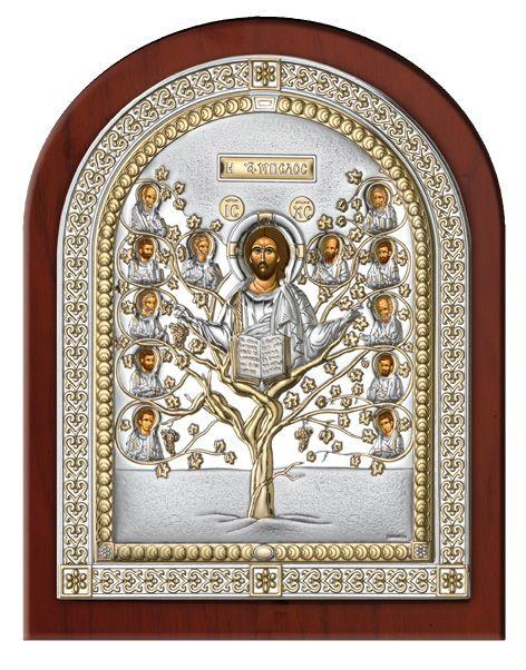Серебряная икона Древо Жизни в рамке (Valenti & Co, Италия)