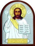 Икона Иисуса Христа Спасителя (9*11) в серебре с золочением купить
