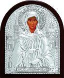 Икона Святая Блаженная Ксения Петербургская (9*11) в серебре