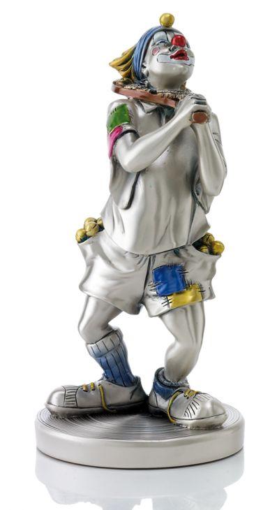 Серебряная коллекционная фигурка клоуна-теннисиста (Италия)