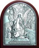 Детская Икона Ангела Хранителя (9*11) в серебряном окладе ребенку купить интернет магазин