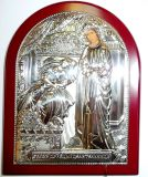 Серебряная икона Богородицы «Целительницы» (12*16см., «Галерея благолепия», Россия) в дорожном футляре
