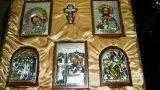 Домашний иконостас из 6-ти икон (красное дерево, «Галерея благолепия», Россия) в VIP-упаковке