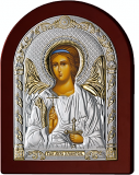 Серебряная икона Ангел Хранитель (Valenti&Co, Италия,прозрачный  лак, повышенное качество!)