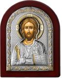 Серебряная икона Иисус Христос Спаситель (Valenti&Co, Италия,прозрачный лак, повышенное качество!)