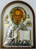 Дорогую икону купить Икона святителя Николая Чудотворца (Угодника) (14,5*20см.) с драгоценными камнями