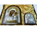 Дорогие иконы купить Подарочный набор Богородицы Казанской и Николая Чудотворца в VIP-упаковке